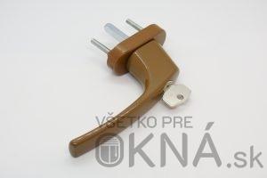 Kľučka okenná MTA s kľúčikom SVETLOHNEDÁ RAL 8008